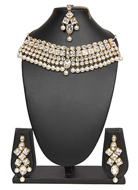 Traditsiya Kundan Stone Necklace Set