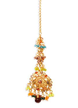 Traditsiya Multicolored Beads Maangtikka