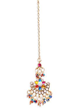 Traditsiya Multicolored Beads N Stones Maangtikka