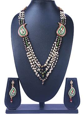 Traditsiya Multicolored Brooch Necklace Set