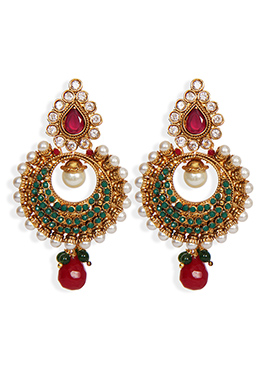 Traditsiya Multicolored Chand Bali Earrings
