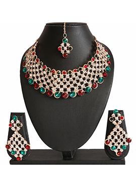 Traditsiya Multicolored Wedding Necklace Set