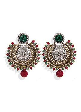 Traditsiya Stones Studded Chand Bali Earrings