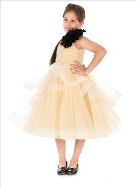 Trendy Beige Kidology Indowestern Dress
