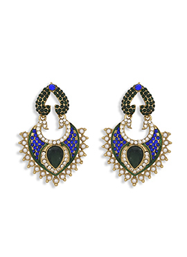 Tribal Zone Black N Blue Stone Chand Balis