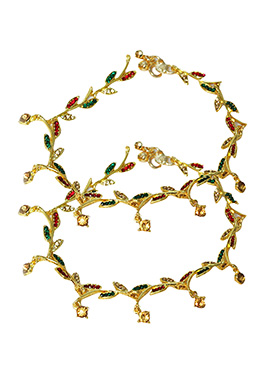 Tricolor Anklet