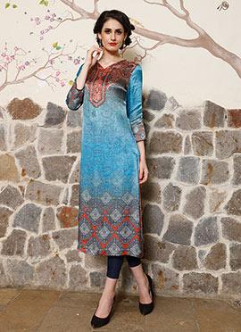 Tricolor Art Silk Kurti