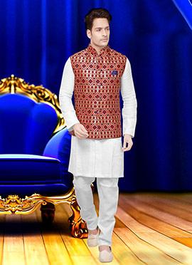 Tricolor Art Silk Nehru Jacket