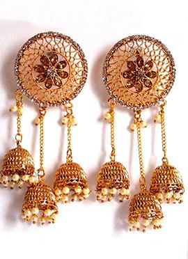Tricolor Chandelier Earrings