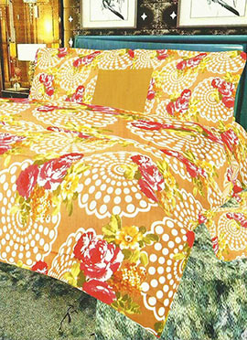 Tricolor Cotton Bed Sheet