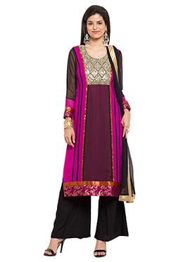 Tricolor Cotton Palazzo Suit