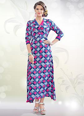 Tricolor Cotton Rayon Tunic