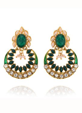 Tricolor Dangler Earrings
