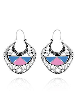 Tricolor Hoop Earrings