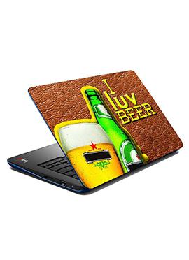 Tricolor I Luv Beer Laptop Skin