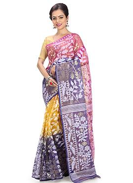 Tricolor Jamdani Saree