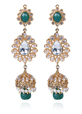 Tricolor Jhumka Earring