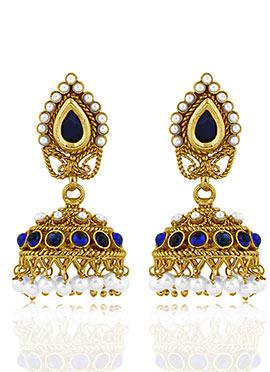 Tricolor Jhumka Earrings