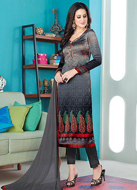 Tricolor Satin Blend Straight Pant Suit