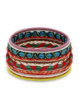 Tricolor Thread Bangles