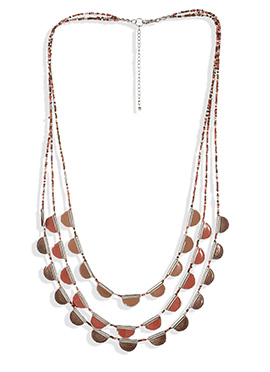 Tricolored Beads Necklace