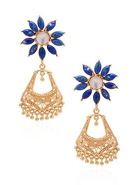 Tricolored Dangler Earrings