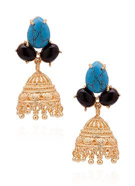 Tricolored Jhumka Earrings