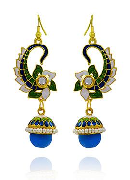 Tricolored Meenakari Dangler Earring