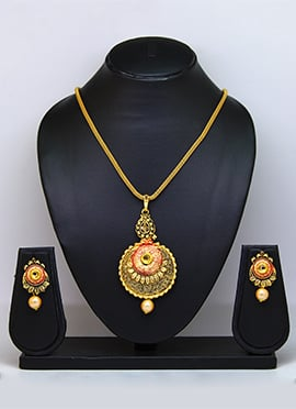 Tricolored Pendant Set