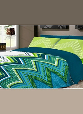 Tricolored Pure Cotton Bed Sheet
