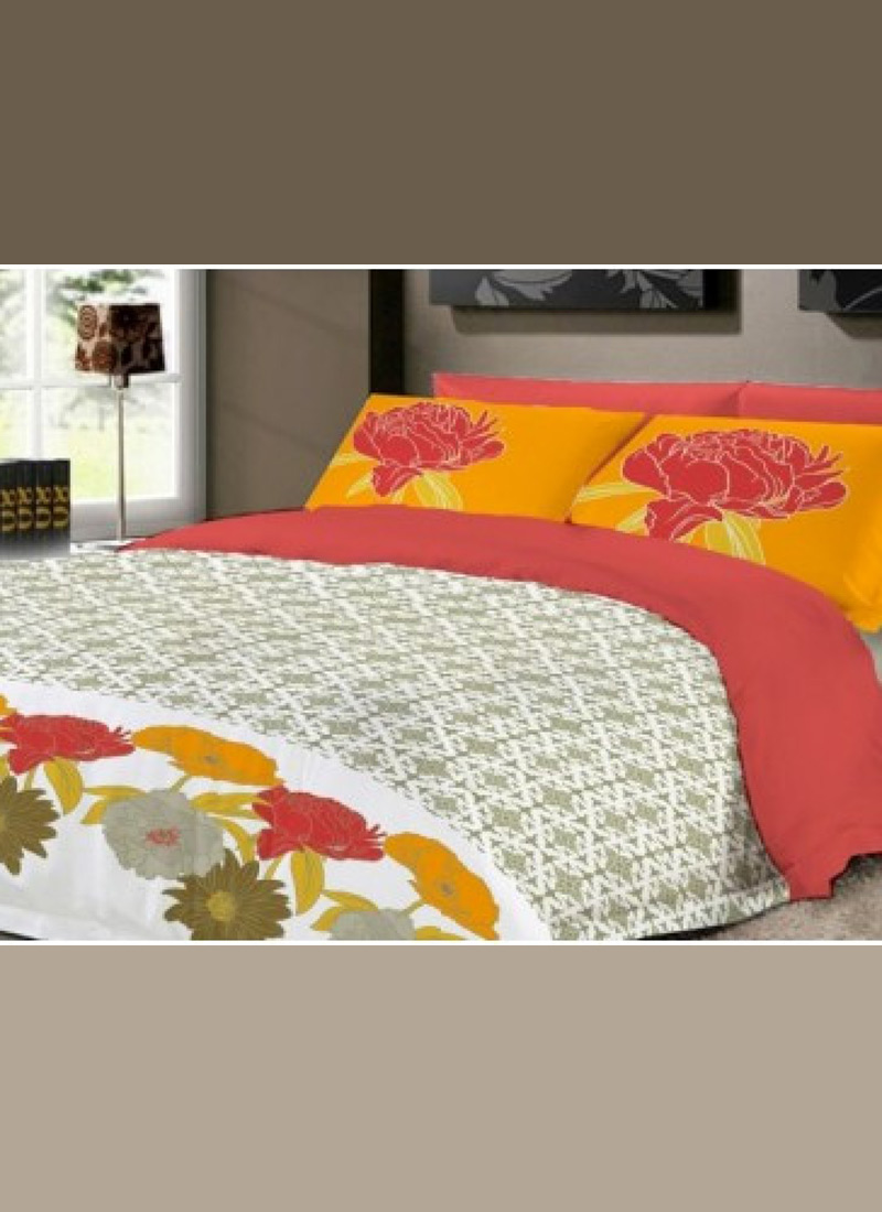 Cotton is the most commonly used fabric in bed sheets because of its durability and softness. The highest quality of cotton is the Egyptian cotton. You can find a wide range of Egyptian cotton sheets on Myntra in vibrant colours and designs.