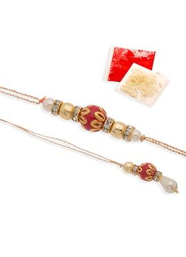 Tricoolored Beads Rakhi