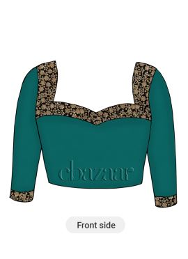 Tropical Green Soft Silk Embroidered Blouse