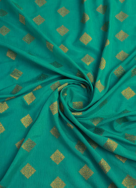 Turquoise Art Silk Fabric