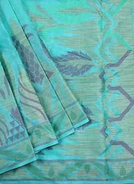 Turquoise Blue Benarasi Pure Silk Saree
