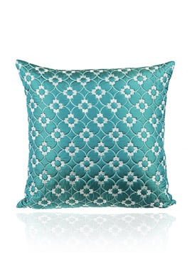 Turquoise Blue PolySilk Cushion Cover