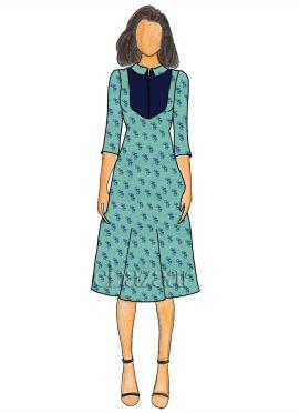 Turquoise Digital Printed Linen Georgette Knee Length Kurti