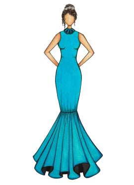 Turquoise Mermaid Gown