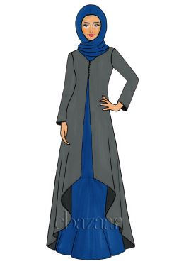 Urban Chic Georgette Jacket Style Abaya