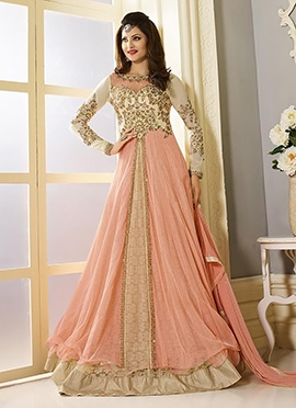 Urvashi Rautela Center Slit Anarkali Suit