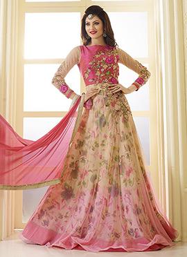 Urvashi Rautela Floor Length Anarkali Suit