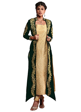Velvet Embroidered Straight Pant Suit