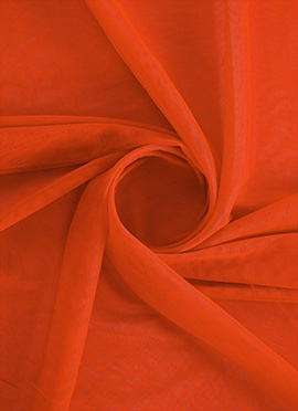 Vermillion Orange Net Fabric