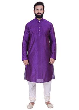 Violet Art Dupion Silk Kurta Pyjama