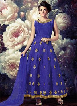 Violet Art Silk Anarkali Suit
