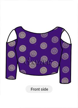 Violet Art Silk Blouse