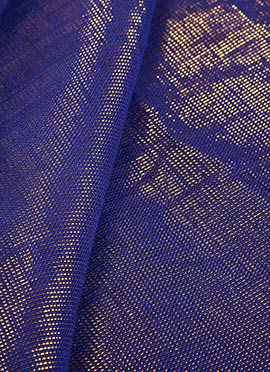Blue Art Silk Fabric