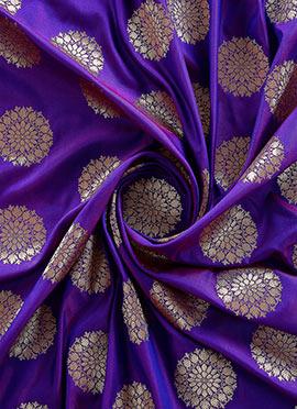 Violet Art Silk Fabric
