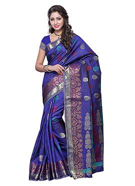 Violet Art Silk Saree