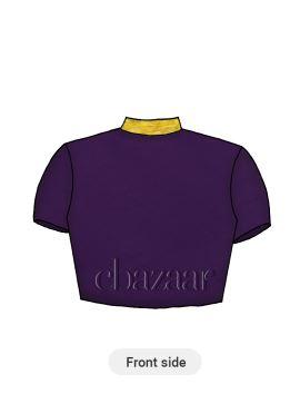 Violet Cotton Cap Sleeve Blouse